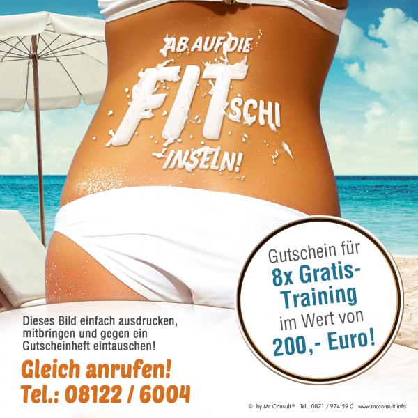 Strandfigur Bikini Figur Abnehmen Fitnessstudio Erding